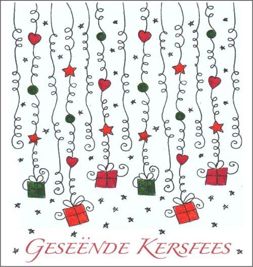 Afrikaans Kersfees Geskenk Etikette